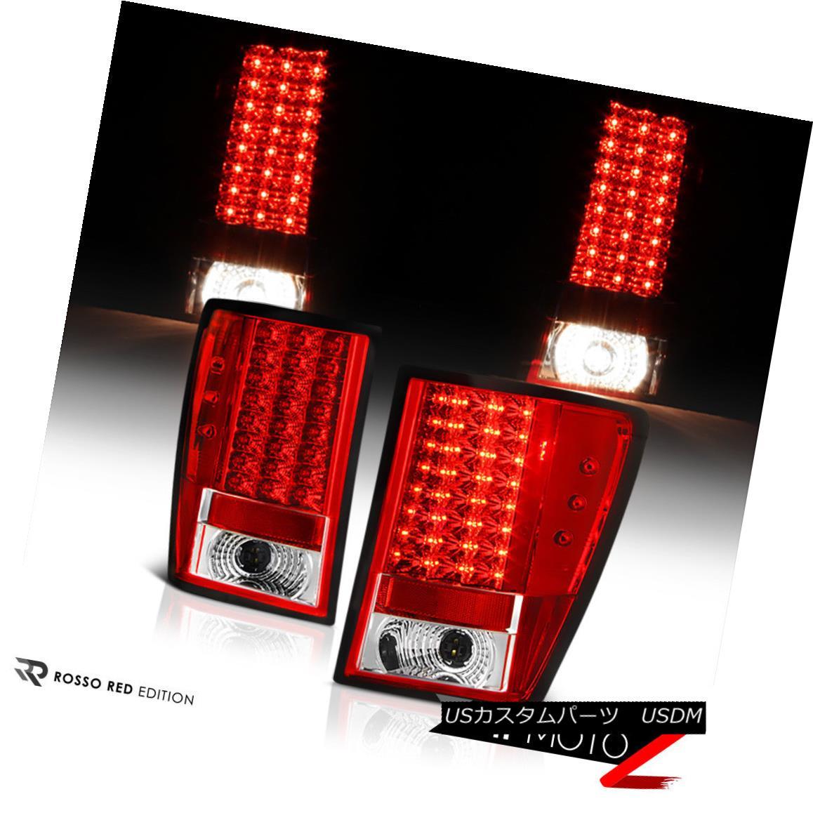 テールライト 2005-2006 GRAND CHEROKEE RED/CLEAR LED Brake Signal Lamp Tail Light Left+Right 2005-2006 GRAND CHEROKEE RED / CLEAR LEDブレーキ信号ランプテールライト左+右