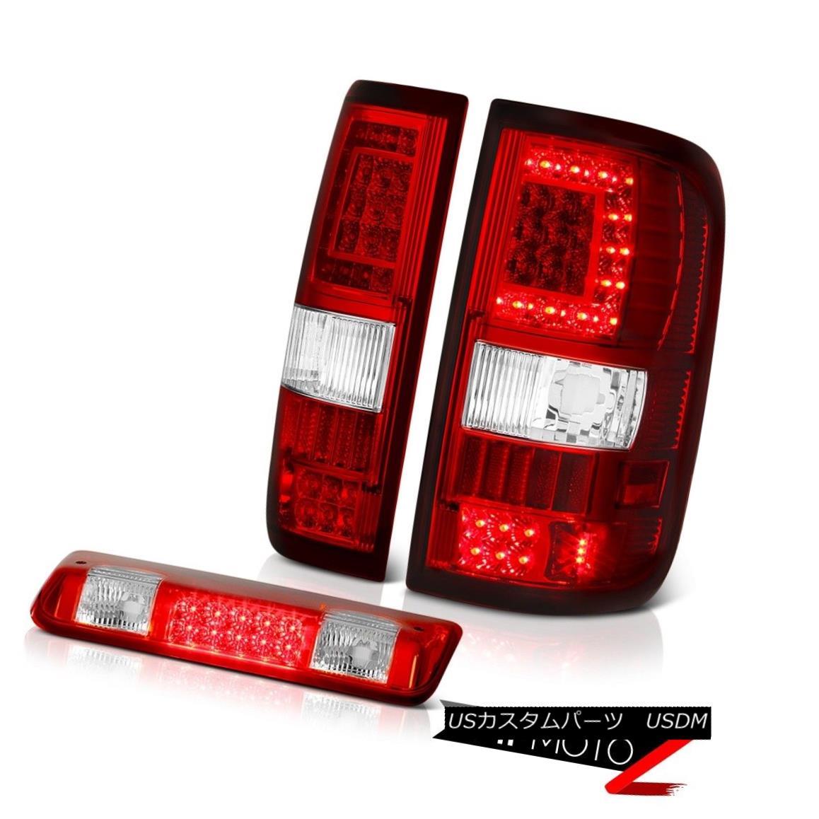 テールライト 04-08 Ford F150 Bloody Red Third Brake Led Bar Tail Lights Set Pair L+R LH+RH 04-08 Ford F150ブラッディレッド第3ブレーキLed BarテールライトセットペアL + R LH + RH