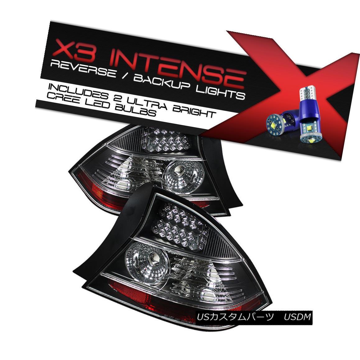 テールライト !CREE LED BACKUP! Honda L@@K 2004-2005 Civic 2DR LED Black Hoising Tail Lamp L+R !クリーLEDのバックアップ! ホンダL @@ K 2004-2005シビック2DR LEDブラックホーニングテールランプL + R