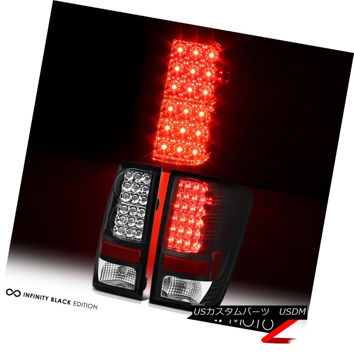 テールライト For 2004-2013 Titan Pickup Truck New Black Left+Right LED Tail Light Lamps 2004年から2013年のタイタンピックアップトラックのために新しい黒の左+右LEDテールライトランプ