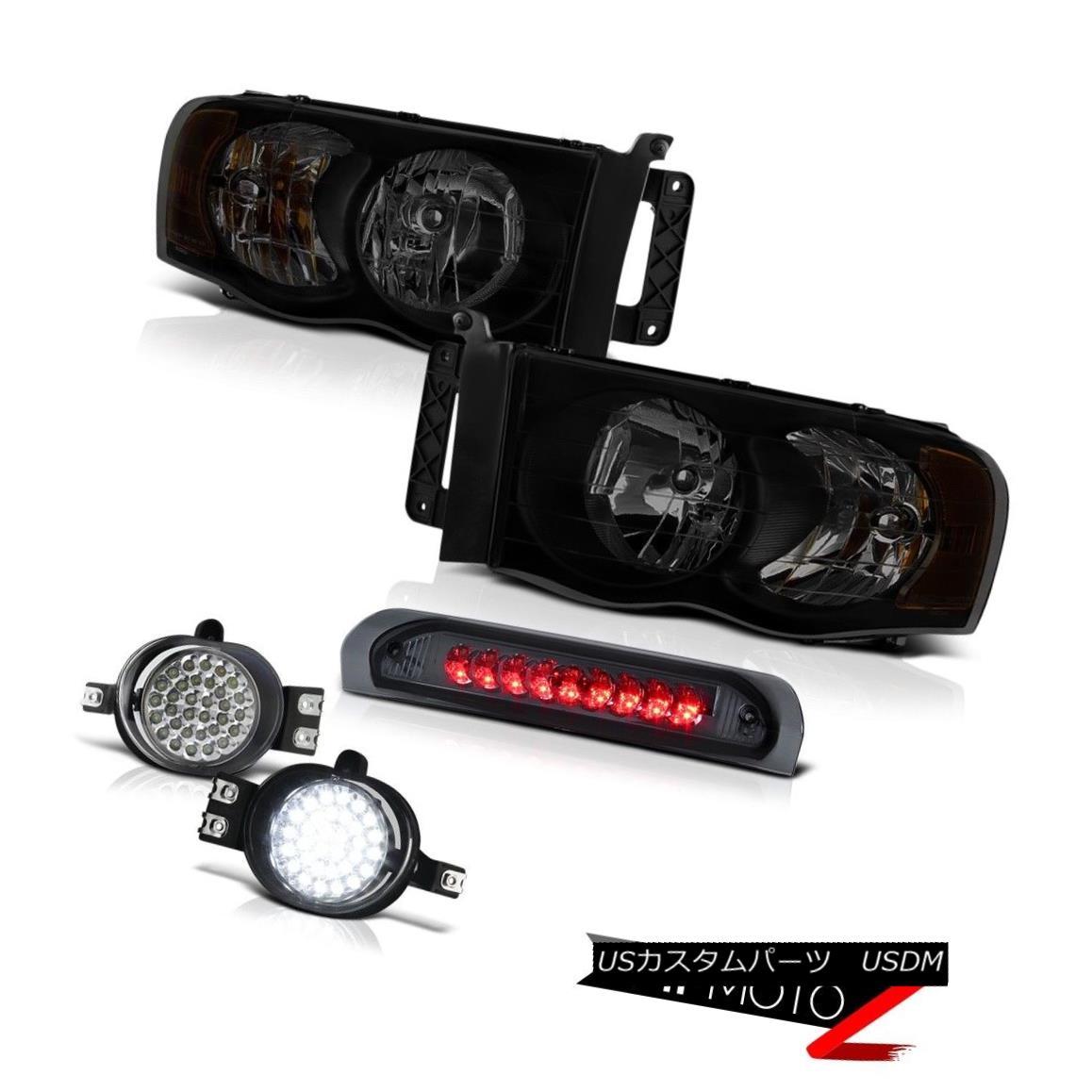 テールライト 02-06 Dodge Ram 1500 2500 4.7L Smoke Tinted Headlamps Fog Lamps Roof Cab Lamp 02-06ダッジラム1500 2500 4.7L煙ランプヘッドランプ霧ランプルーフキャブランプ