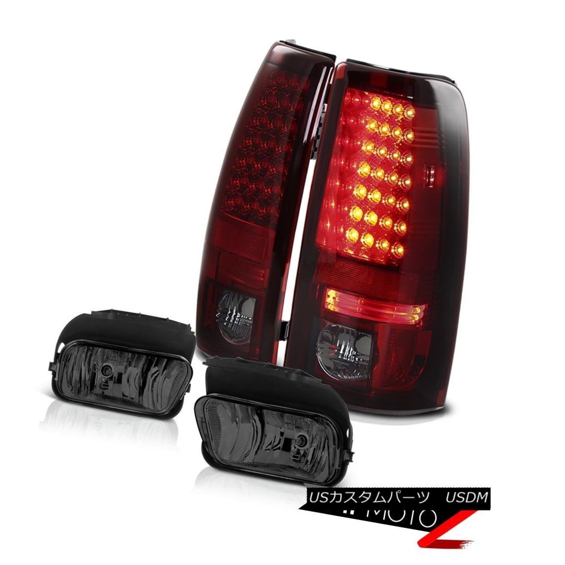 テールライト Burgundy Red SMD LED Taillights Driving Foglamp 2005 2006 Silverado Vortec Max ブルゴーニュレッドSMD LEDテールライトドライビングフォグライト2005 2006 Silverado Vortec Max