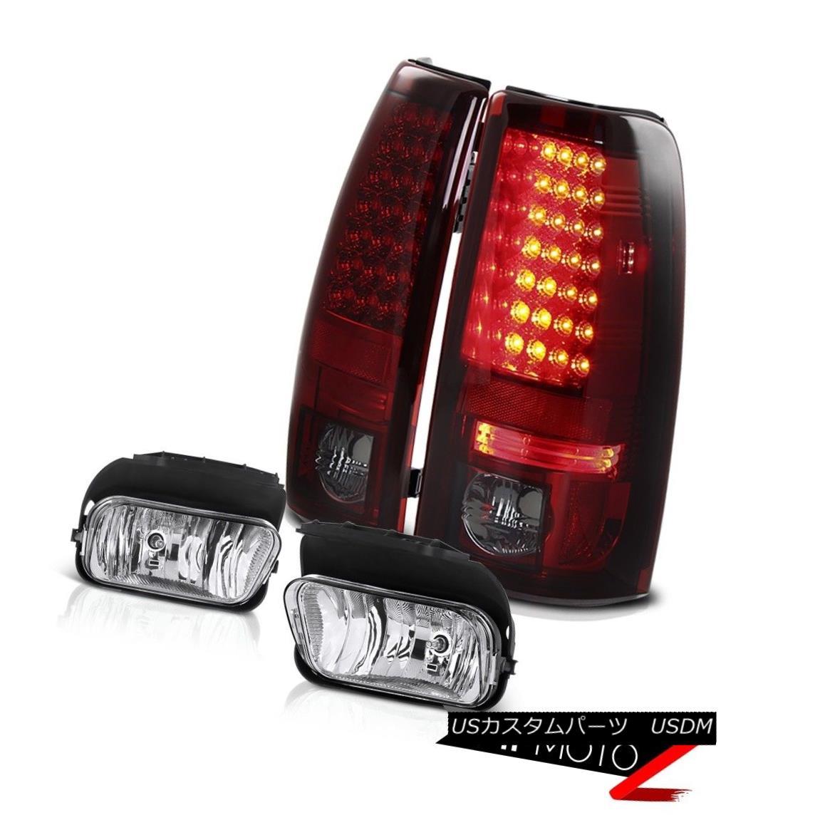 テールライト Bright Cherry Red L.E.D Tail Light Driving Chrome Fog Lights 03-06 Silverado LTZ 明るいチェリーレッドL.E.Dテールライトドライビングクロムフォグライト03-06 Silverado LTZ