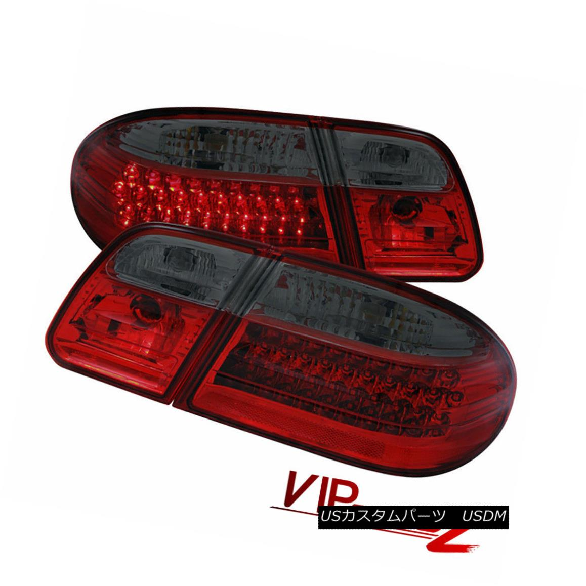 テールライト 96-02 BENZ W210 E-Class E300 E320 L+R Smoke LED Tail Light Signal Lamps Assembly 96-02ベンツW210 EクラスE300 E320 L + RスモークLEDテールライト信号ランプアセンブリ