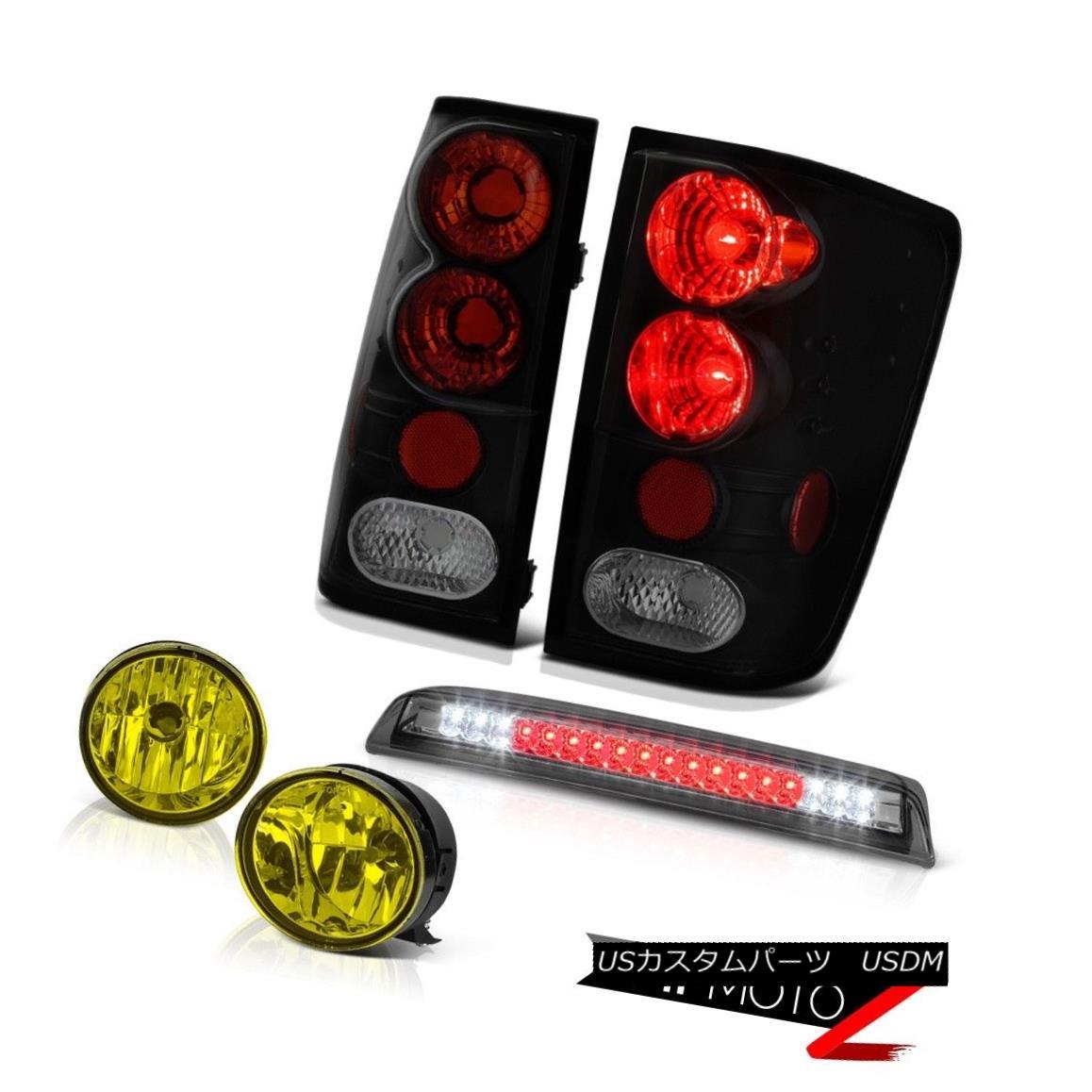 テールライト For 04-15 Titan S Sinister Black Tail Lamp Yellow Fog Smoke Third Brake LED 04月15日タイタンSシニスターブラックテールランプイエローフォグスモーク第3ブレーキLED