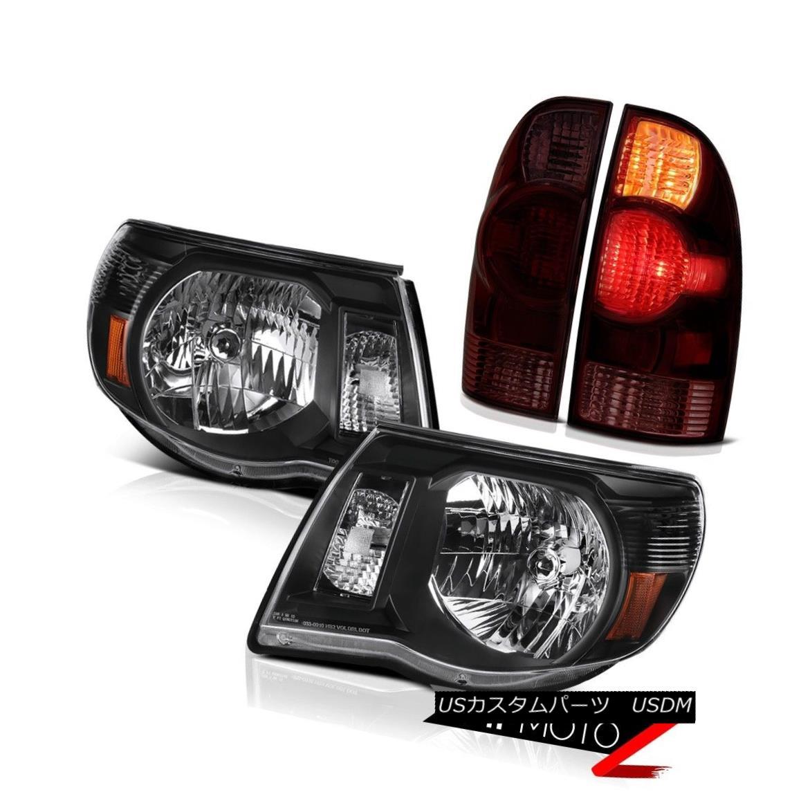 テールライト 05-11 Tacoma 4.0L Graphite smoke parking brake lights headlights Factory Style 05-11タコマ4.0Lグラファイト煙駐車ブレーキライトヘッドライト工場のスタイル