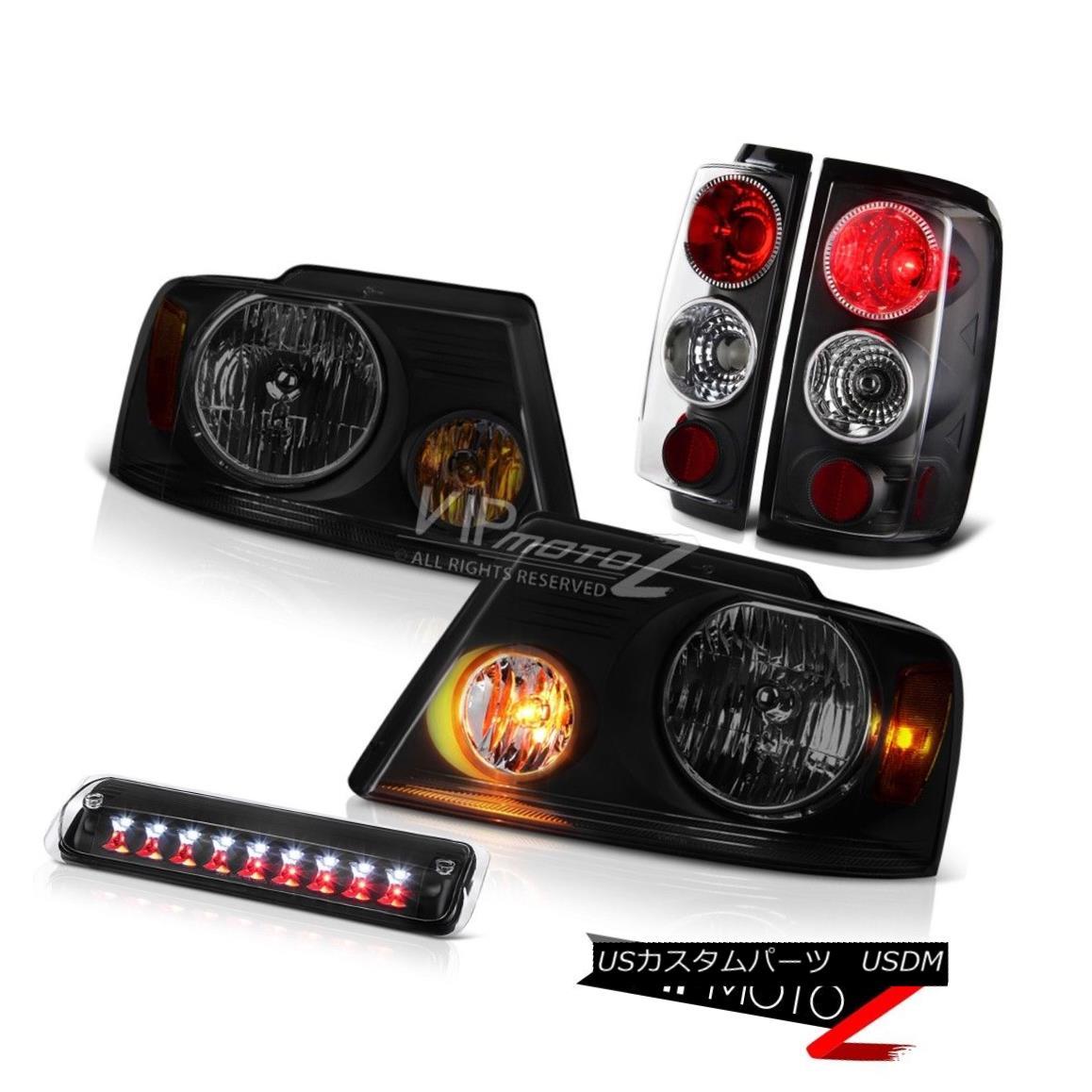 テールライト 04-08 Ford F150 XL Headlights Matte Black Third Brake Light Tail Lamps Assembly 04-08 Ford F150 XLヘッドライトマットブラック第3ブレーキライトテールランプ