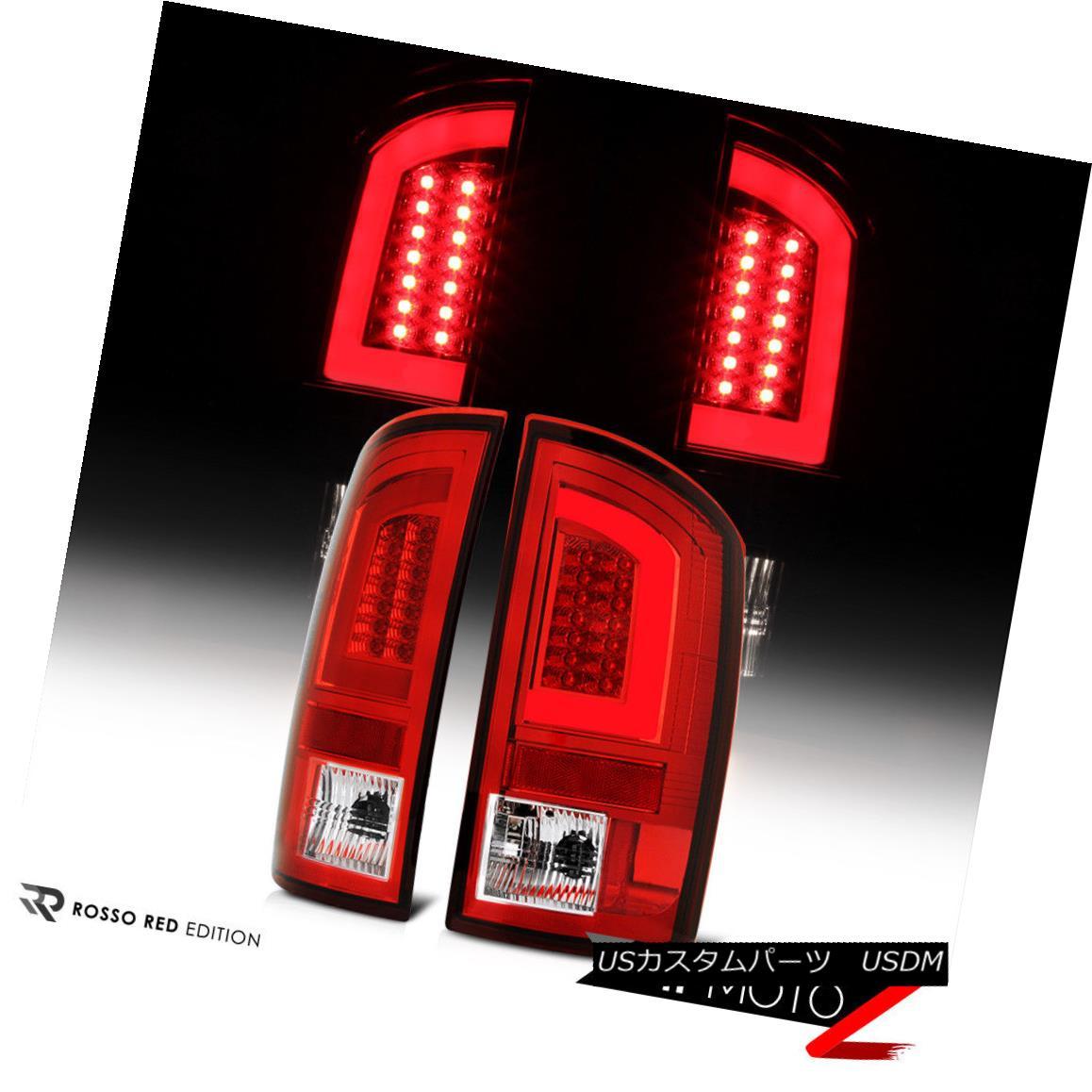 テールライト 07-08 Dodge Ram Chrome Housing Red Lens LED Bar Brake Signal Lamp Tail Light 07-08ダッジラムクロームハウジングレッドレンズLEDバーブレーキ信号ランプテールライト
