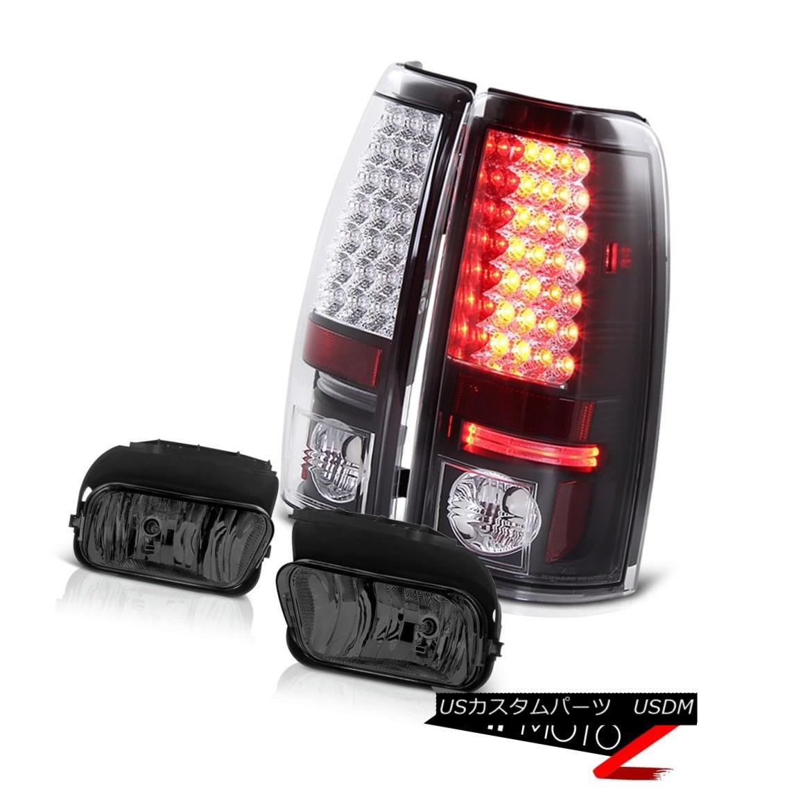 テールライト LED SMD Matte Black TailLight Bumper Driving Foglights 03 04 05 06 Silverado LT LED SMDマットブラックテールライトバンパードライビングフォグライト03 04 05 06 Silverado LT