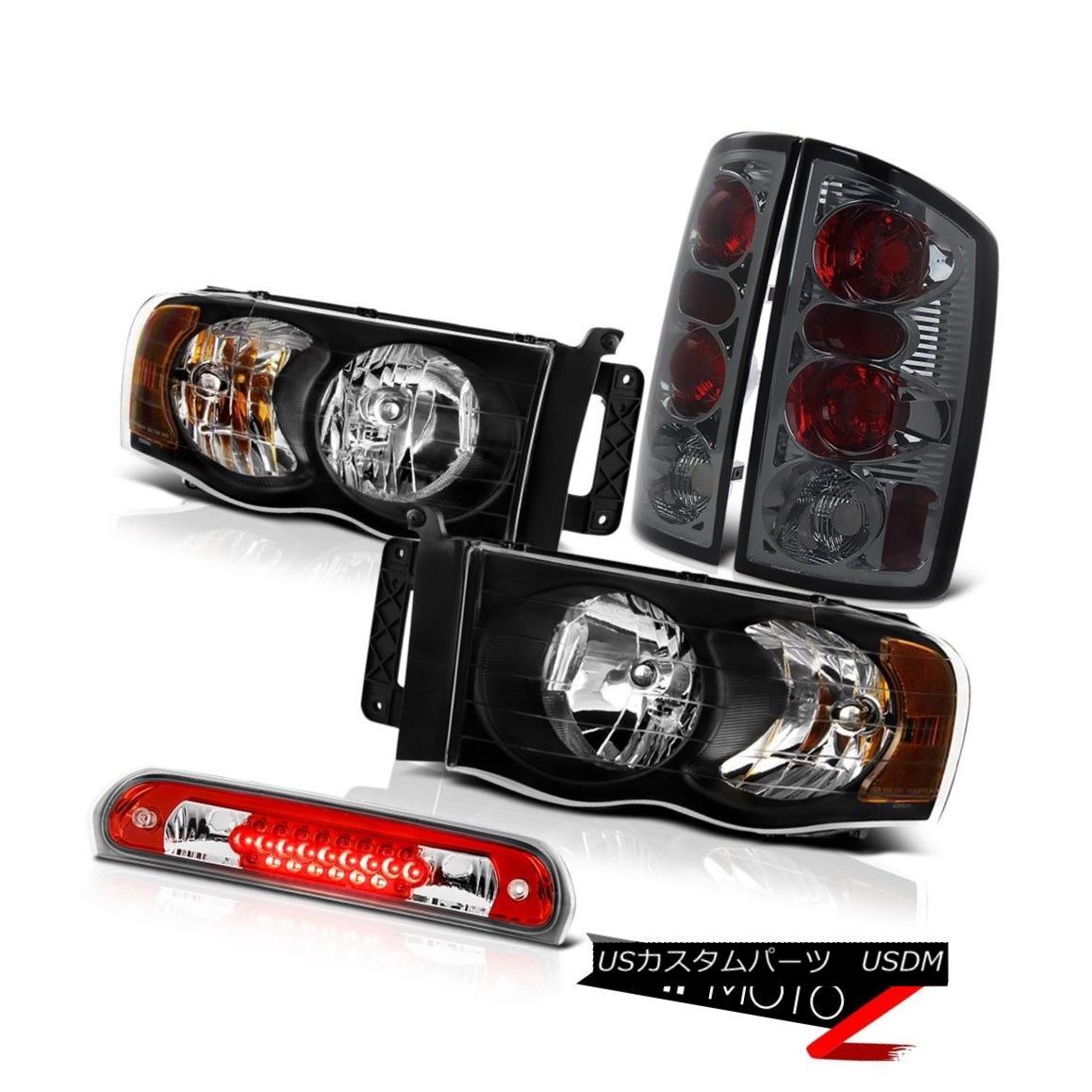 テールライト Crystal Black Headlights Smk Tail Lamp High Brake Cargo LED 2002-2005 Ram SRT-10 クリスタルブラックヘッドライトSmkテールランプハイブレーキカーゴLED 2002-2005 Ram SRT-10