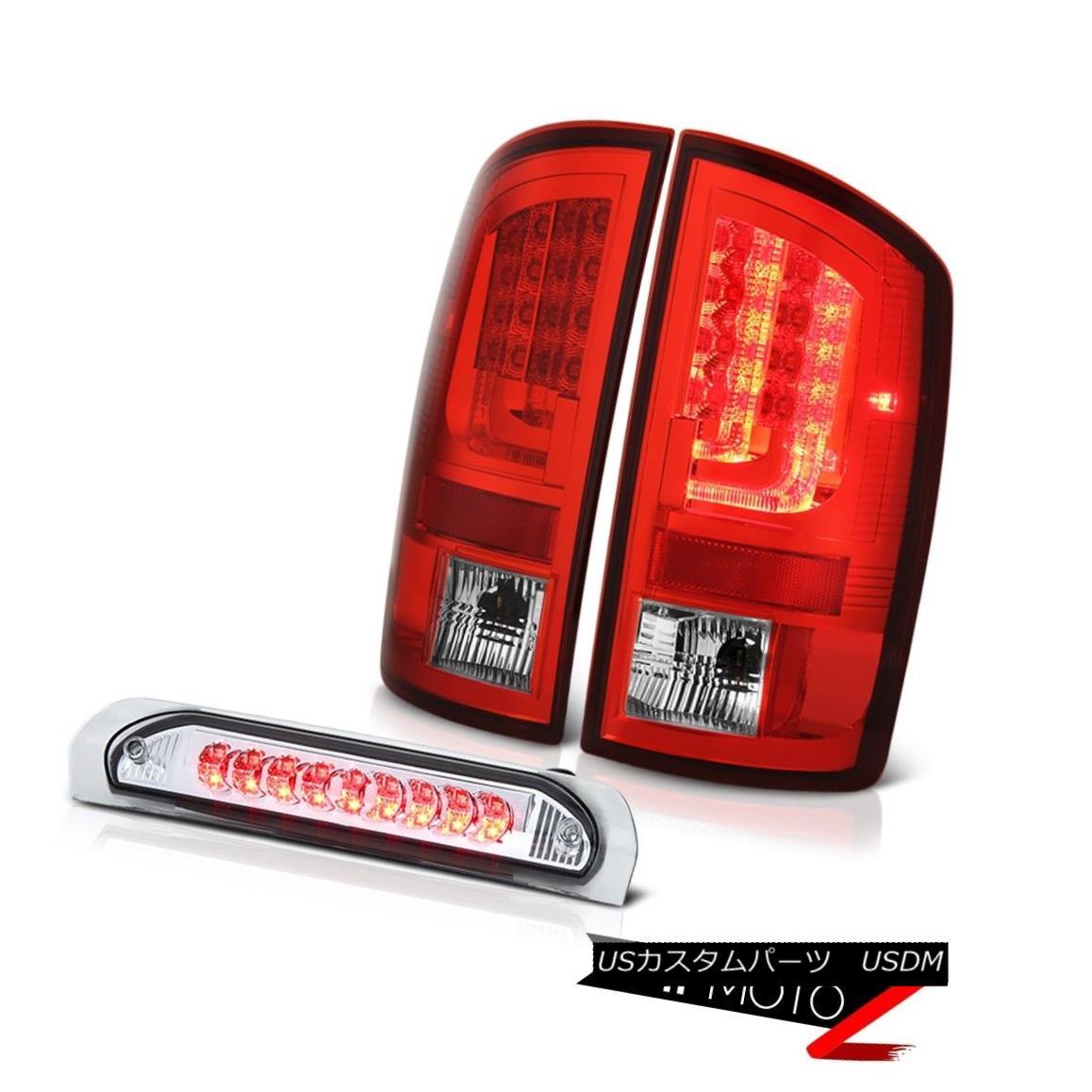 テールライト 2003-2006 Dodge Ram 2500 5.7L Rosso Red Tail Lights Euro Chrome High STop Lamp 2003-2006 Dodge Ram 2500 5.7LロッソレッドテールライトユーロクロームハイSTOPランプ