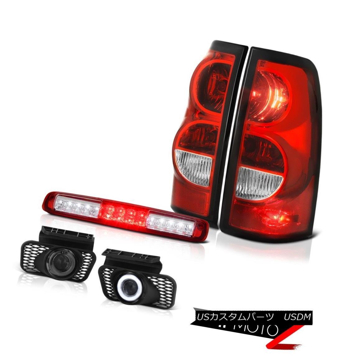 テールライト 2003-2006 Silverado 2500Hd Red Roof Brake Light Smoked Fog Lights Rear Lights 2003-2006シルバラード2500Hdレッドルーフブレーキライトスモークフォグライトリアライト