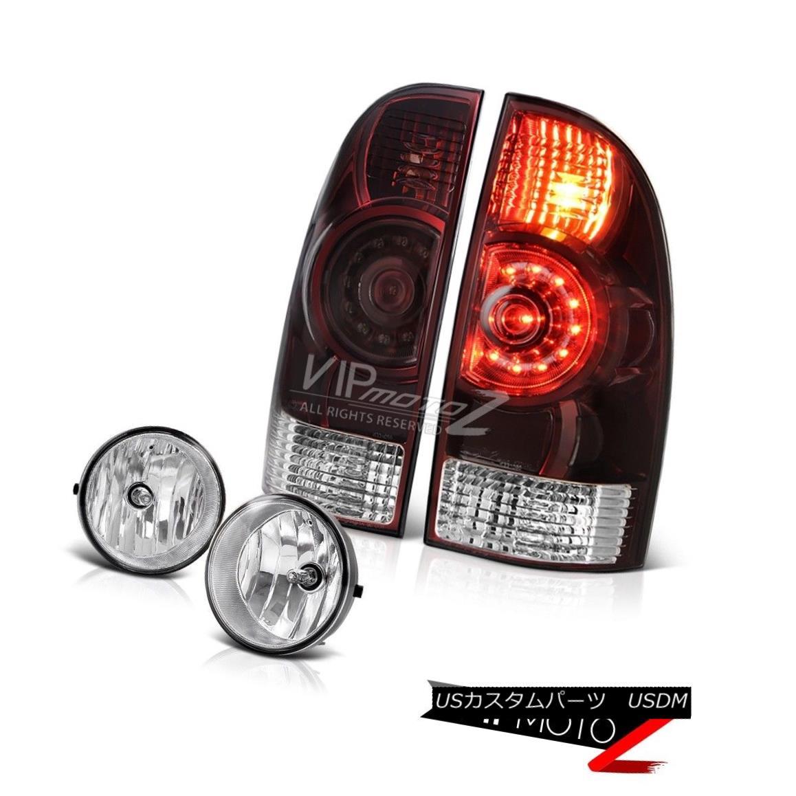 テールライト 05-11 Tacoma PreRunner Rear brake lamps crystal clear foglights LED