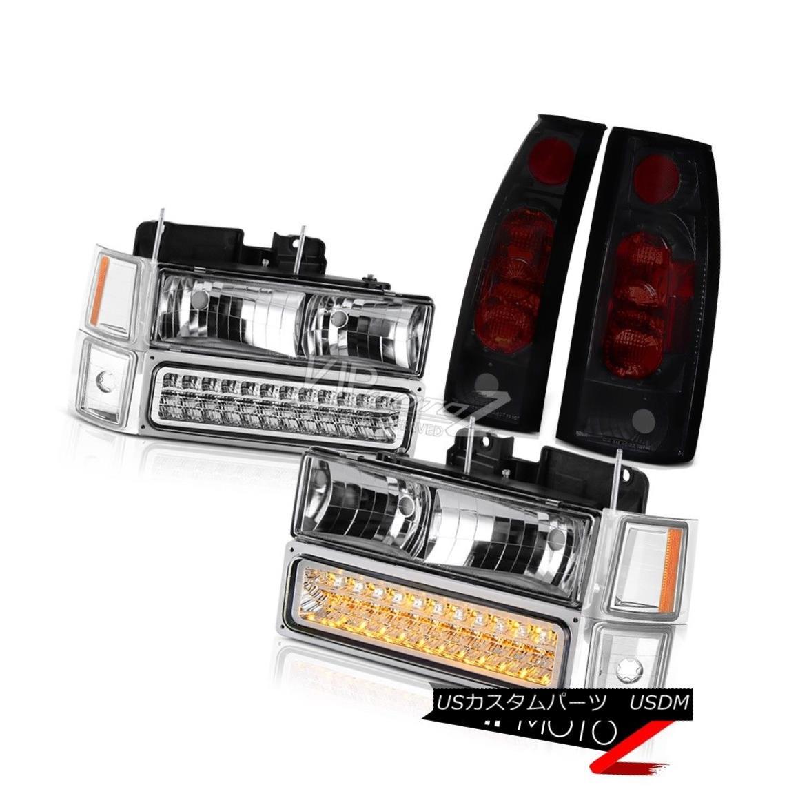 テールライト [Combo] Tahoe 95-99 Glass Headlamp Parking Corner Lights Rear Brake Tail Light [コンボ]タホ95-99ガラスヘッドランプパーキングコーナーライトリアブレーキテールライト