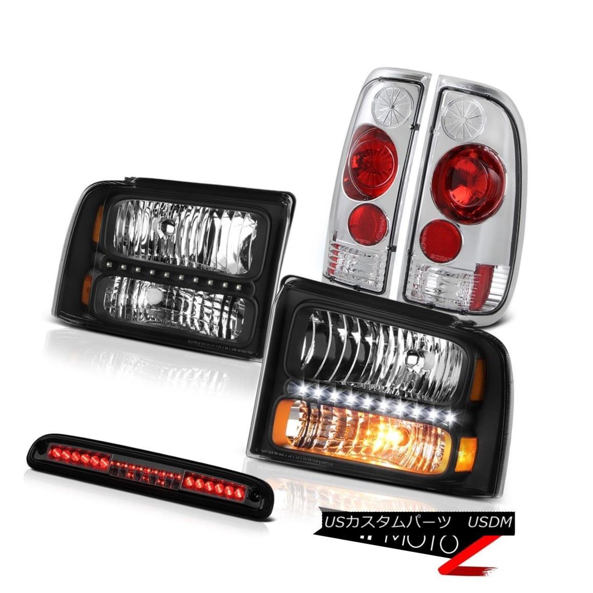 テールライト 2005 06 07 F250 FX4 Left Right Headlights Tail Lights Lamps High Brake Cargo LED 2005 06 07 F250 FX4左ライトヘッドライトテールライトランプハイブレーキカーゴLED