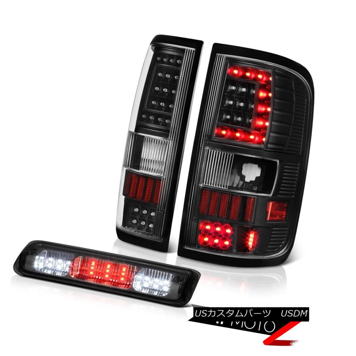 テールライト 2004-2008 Ford F150 F-150 Led Bar Tail Lamp Titanium Smoke Third Brake Set LH+RH 2004-2008フォードF150 F-150 Led BarテールランプチタンSmoke Third Brake Set LH + RH