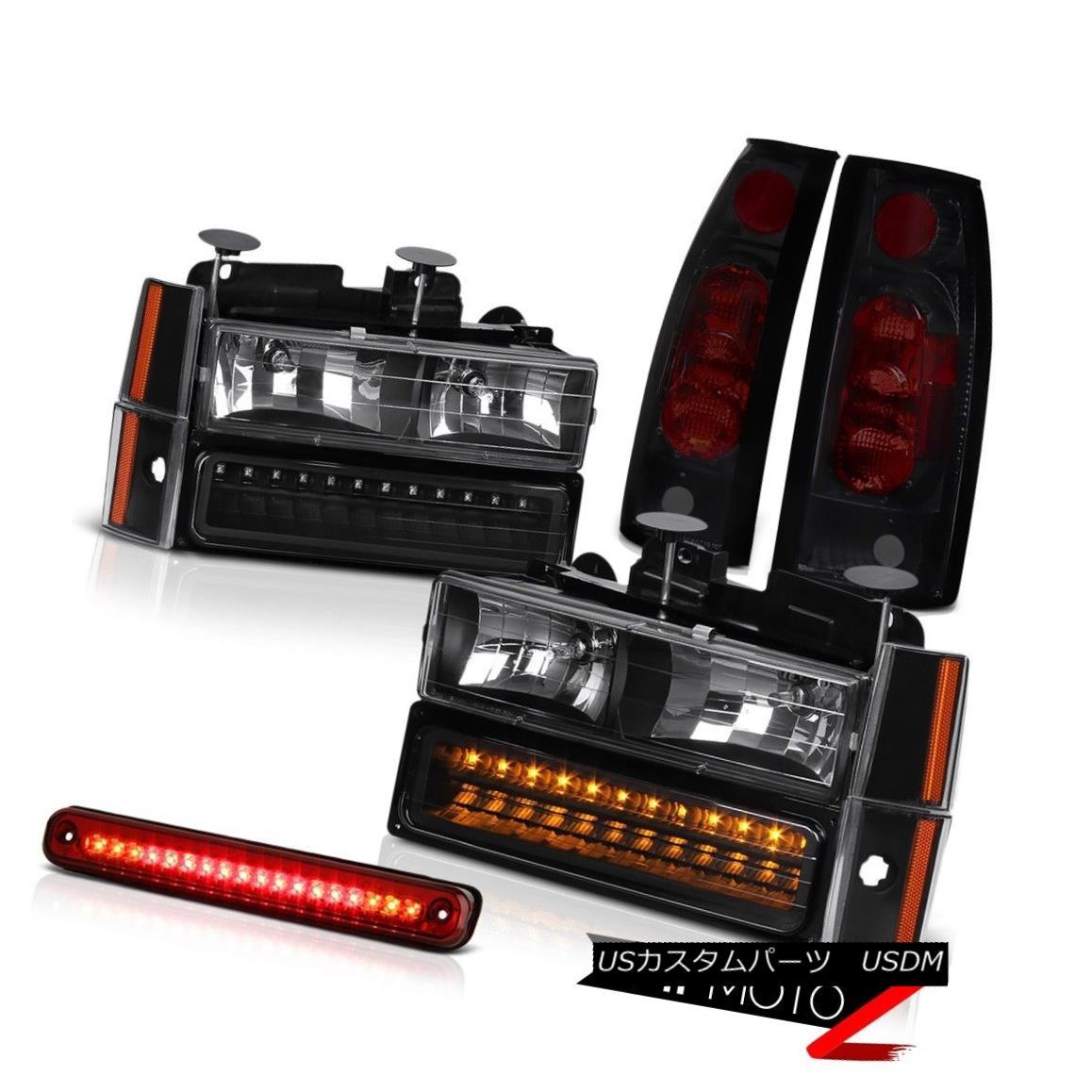 テールライト 88 89 90 91 92 93 Chevy Parking Headlights Rear Brake Tail Lights Roof LED Red 88 89 90 91 92 93シボレーパーキングヘッドライトリアブレーキテールライトルーフLEDレッド