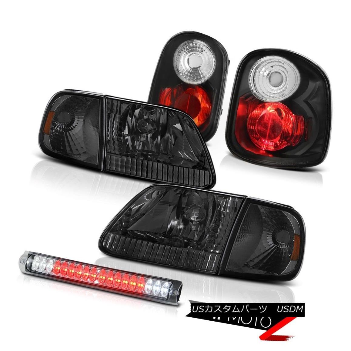 テールライト Smoke Headlights Rear Taillamps High LED Chrome 01 02 03 F150 Flareside Hertiage スモークヘッドライトリアテールランプハイLEDクローム01 02 03 F150フラレイドヘリテージ