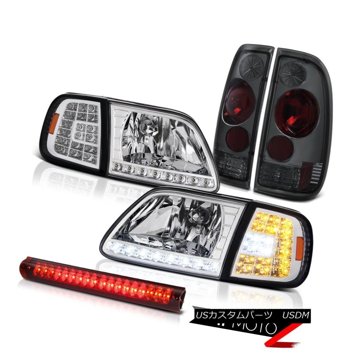 テールライト 1997-2003 F150 Crystal SMD Parking Headlights Tinted Tail Lights High Stop LED 1997-2003 F150クリスタルSMDパーキングヘッドライトティンテッドテールライトハイストップLED
