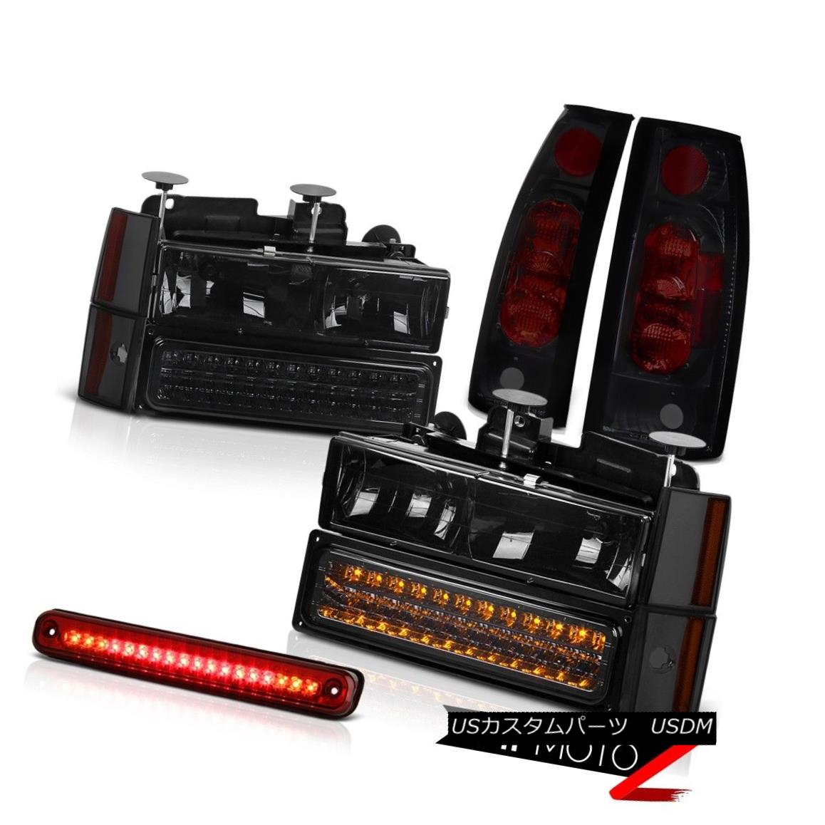 テールライト 1988-1993 Chevy C/K DARK SMOKE LED Signal Bumper Headlight Taillamp SMD 3RD Cab 1988-1993 Chevy C / K DARK SMOKE LEDシグナルバンパーヘッドライトタイルランプSMD 3RDキャブ