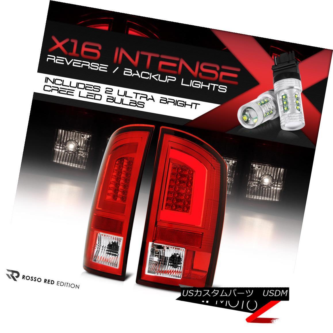 テールライト [CREE Reverse Bulbs] 02-06 Dodge Ram Red LED Bar Brake Signal Lamp Tail Light [CREE逆電球] 02-06ダッジラム赤色LEDバーブレーキ信号ランプテールライト