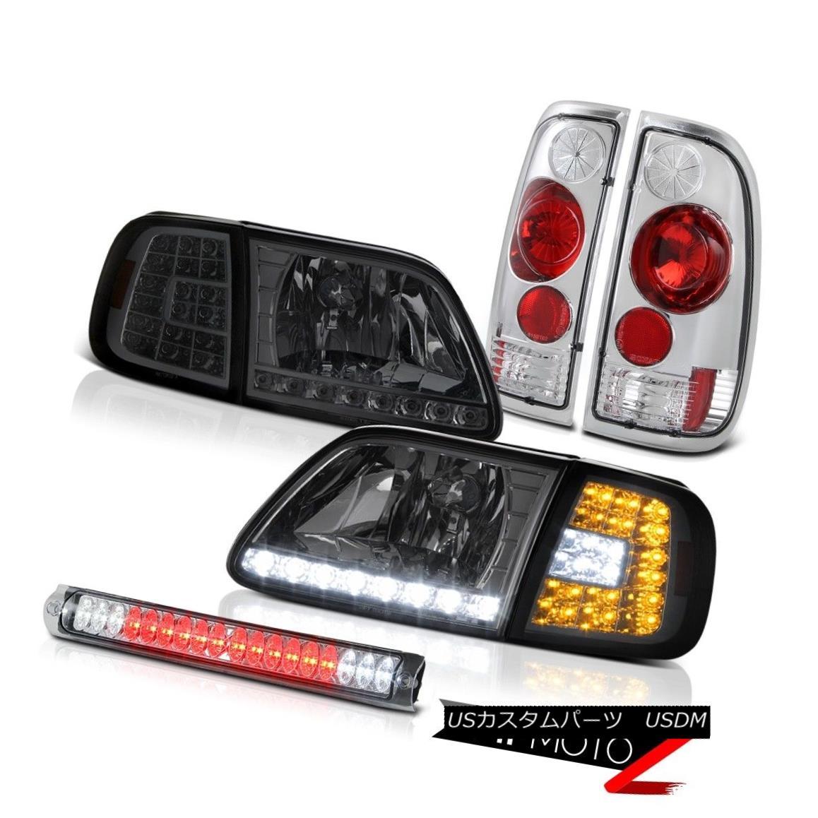 テールライト 1997-2003 F150 XLT Smoke SMD Corner+Headlight Signal Brake Lights Chrome 3rd LED 1997-2003 F150 XLTスモークSMDコーナー+ヘッドリグ ht信号ブレーキライトクローム第3 LED