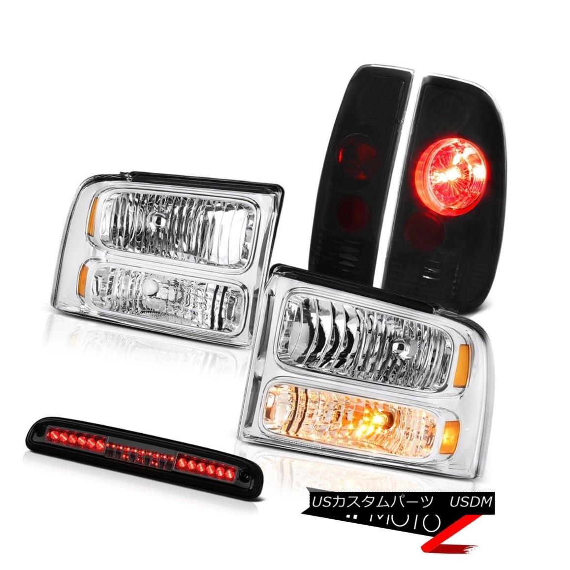 テールライト 05-07 F250 6.8L Chrome Headlights Altezza Darkest Tail Lights Tint 3rd Brake LED 05-07 F250 6.8LクロームヘッドライトAltezza DarkestテールライトTint 3rd Brake LED