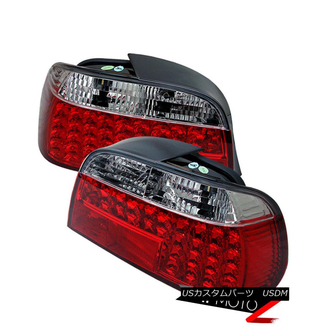 テールライト 95-01 BMW E38 7-Series Sedan Ultra LED Tail Light Lamp Rear Brake Pair LH RH Set 95-01 BMW E38 7シリーズセダンウルトラLEDテールライトランプリアブレーキペアLH RHセット