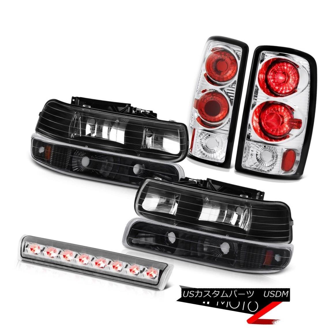 テールライト 2000-2006 Suburban 2500 Black Parking Headlights Clear Tail Lights Roof Stop LED 2000-2006郊外2500ブラックパーキングヘッドライトクリアテールライトルーフストップLED