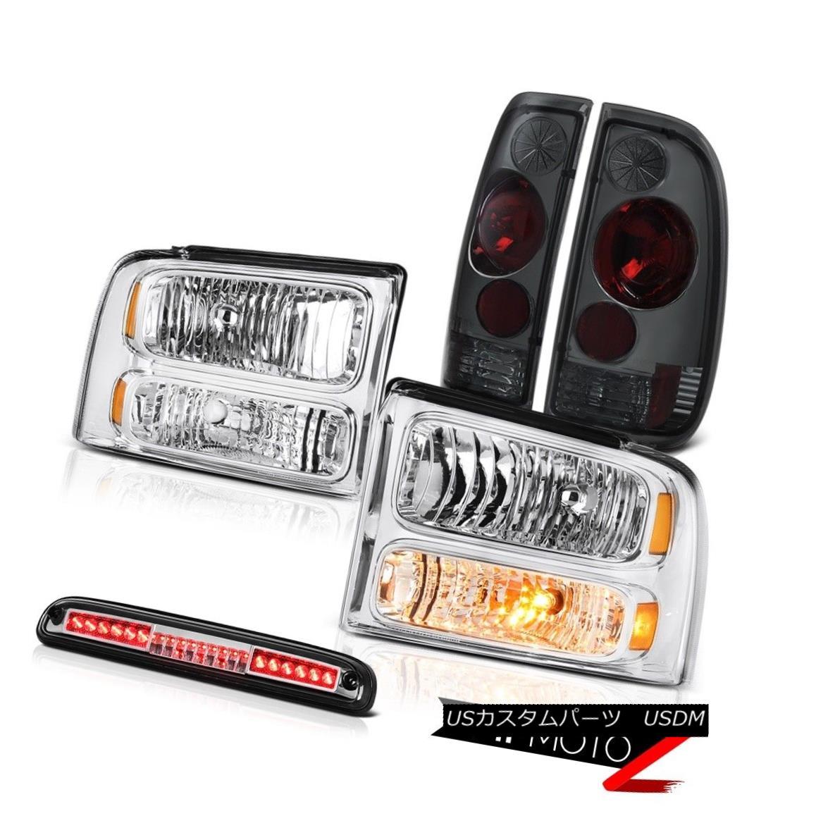 テールライト 2005-07 F350 7.3L Crystal Headlights LH RH Rear Signal Tail Lights Roof Stop LED 2005-07 F350 7.3LクリスタルヘッドライトLH RHリアシグナルテールライトルーフストップLED