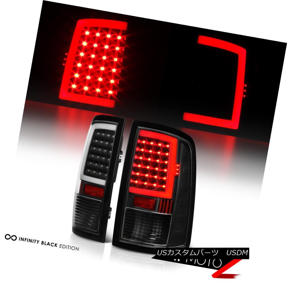 テールライト [OLED Neon Tube] 2009-2018 Dodge Ram 1500 2500 3500 Black LED Tail Lights 2016 [OLEDネオンチューブ] 2009-2018 Dodge Ram 1500 2500 3500ブラックLEDテールライト2016