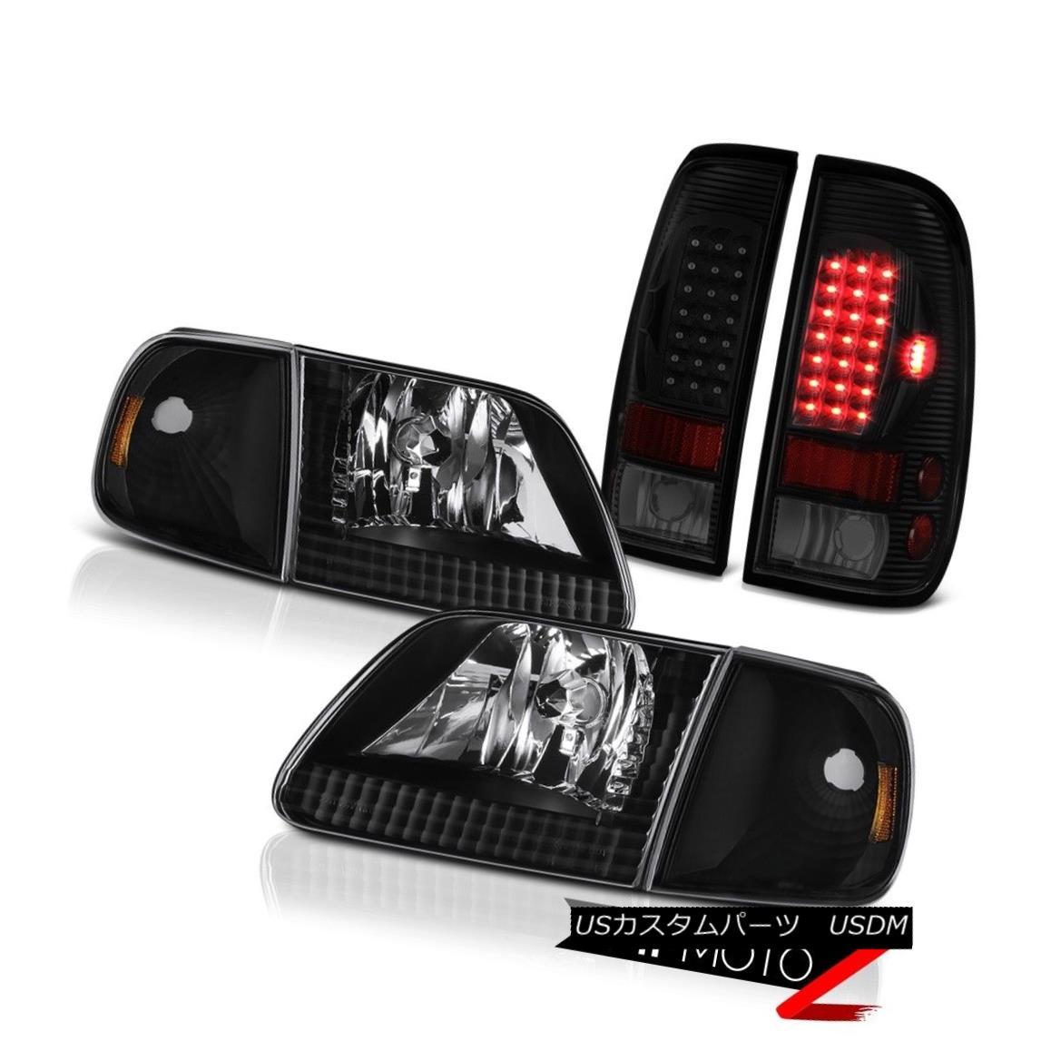 テールライト 97 98 99 00 01 02 03 F150 Xlt Sinister Black Rear Brake Lights Raven Headlights 97 98 99 00 01 02 03 F150 Xlt SinisterブラックリアブレーキライトRavenヘッドライト