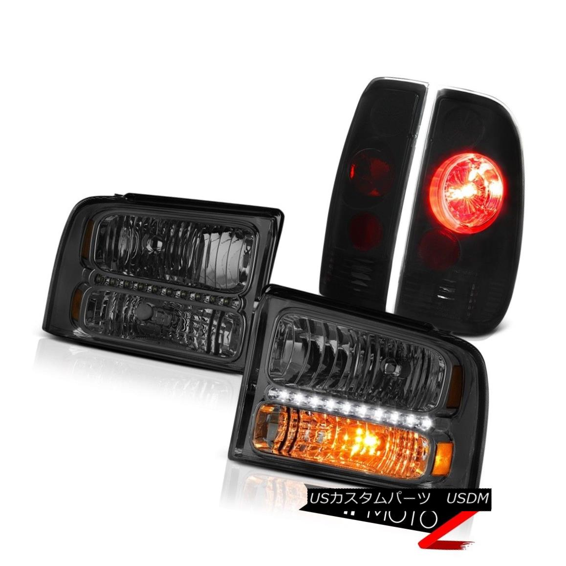テールライト Left Right Smk Headlights Altezza Darkest Tail Lights 2005 2006 2007 F250 Lariat Left Right SmkヘッドライトAltezza Darkestテールライト2005 2006 2007 F250 Lariat