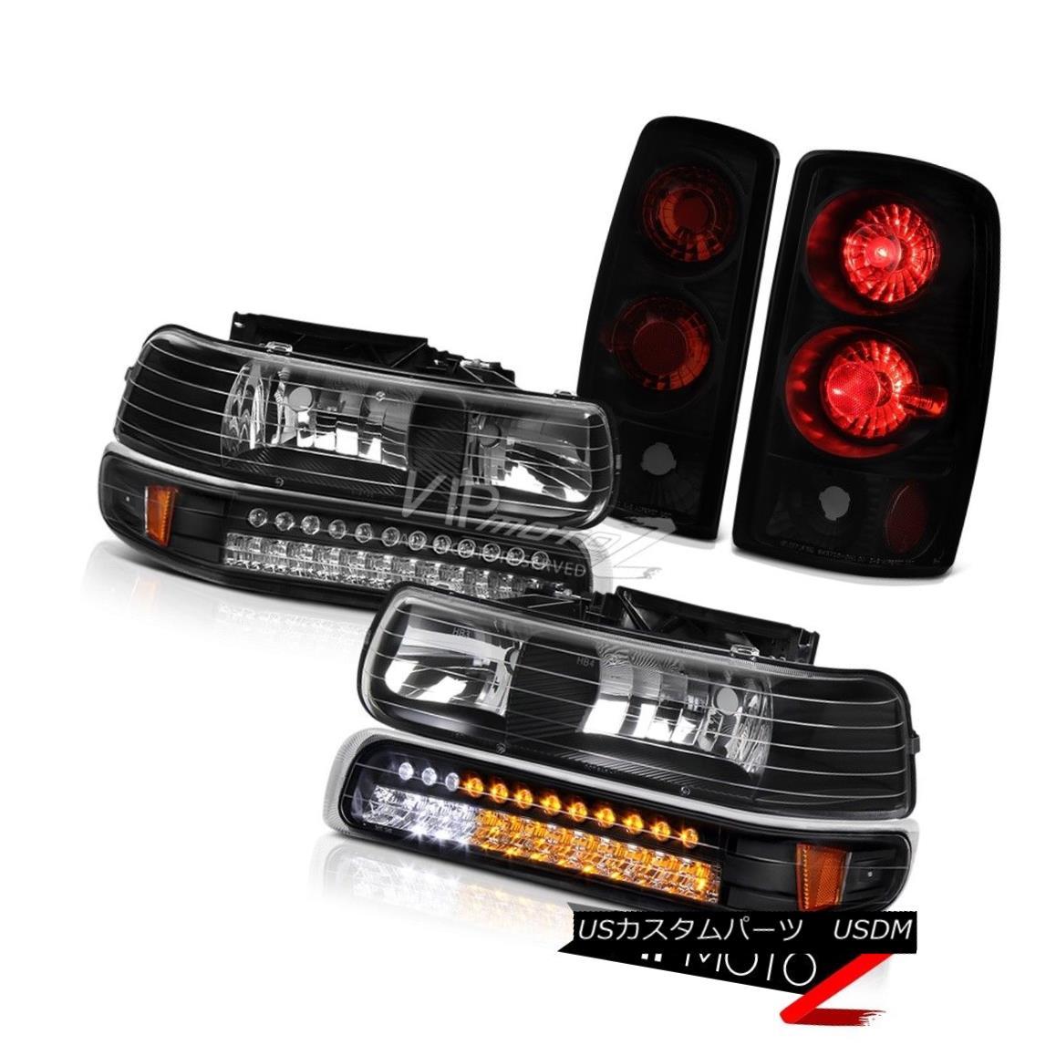 テールライト 00 01 02 03 04 05 06 Tahoe LT Black DRL Bumper+Headlamps Rear Signal Tail Lamps 00 01 02 03 04 05 06タホLTブラックDRLバンパー+ヘッドラム psリアシグナルテールランプ