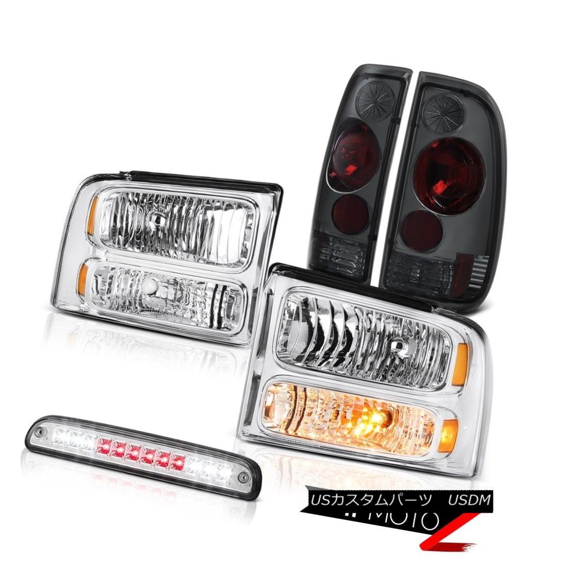 テールライト 05 06 07 F350 5.4L Left Right Headlights Tinted Brake Tail Lights High Cargo LED 05 06 07 F350 5.4L左のライトヘッドライト着色されたブレーキテールライトHigh Cargo LED