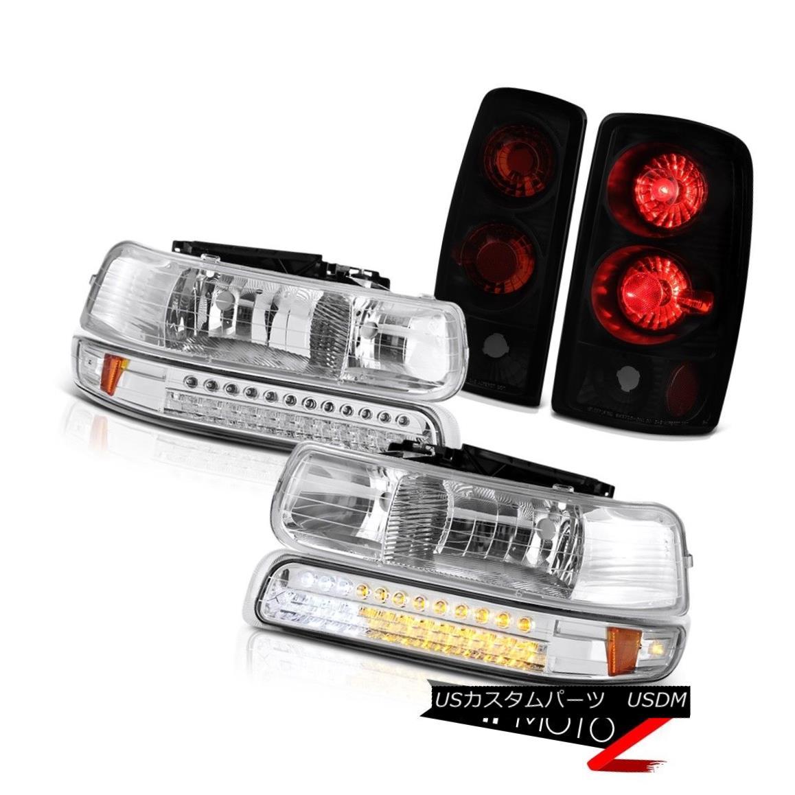 テールライト 2000-2006 Chevy Suburban 5.7L LED Signal DRL Headlights Taillight Sinister Black 2000-2006シボレー郊外5.7L LED信号DRLヘッドライトテールライトシニスターブラック