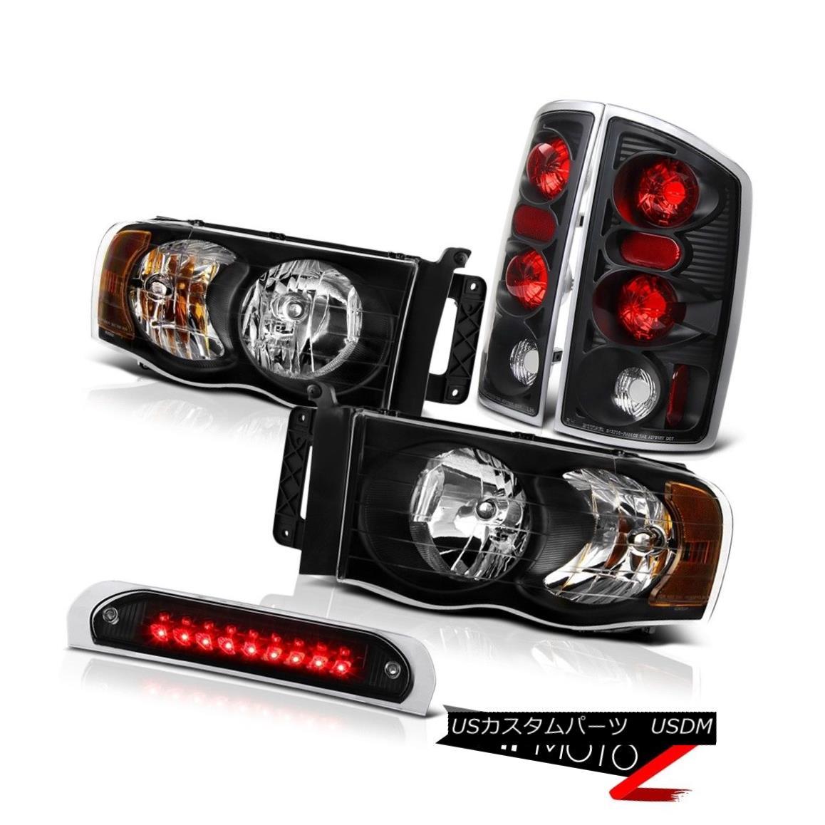 テールライト Jet Black Headlights Brake Tail Lights Roof Brake Cargo LED 02 03 04 05 Ram 1500 ジェットブラックヘッドライトブレーキテールライトルーフブレーキカーゴLED 02 03 04 05ラム1500