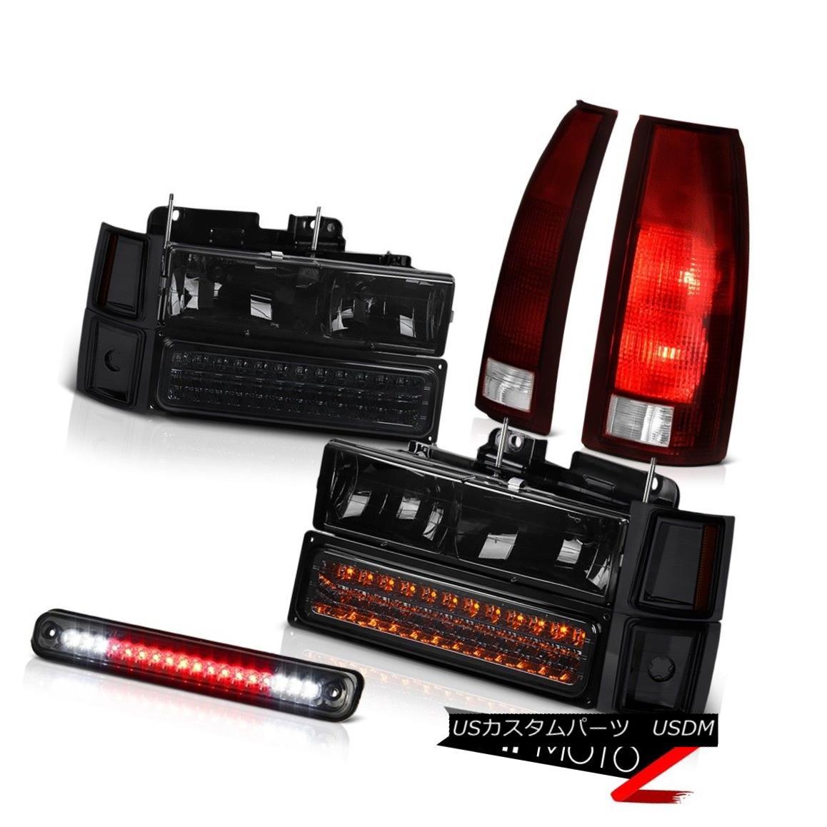 テールライト 94-98 Chevy K3500 Dark Smoke Roof Cab Light Taillights 8Pcs Headlight Combo LED 94-98シボレーK3500ダークスモーク屋根キャブライトテールライト8個のヘッドライトコンボLED
