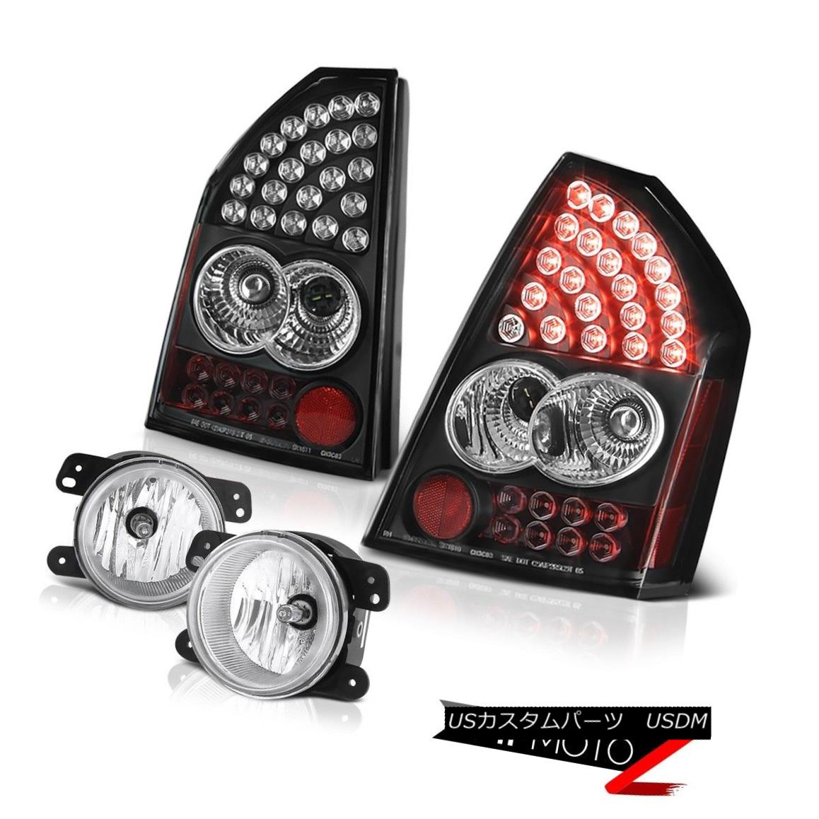 テールライト 2005 2006 2007 Chrysler 300 Touring LED Bulbs Tail Lights Chrome Foglights 2005 2006 2007クライスラー300ツーリングLED電球テールライトクロムフォグライト