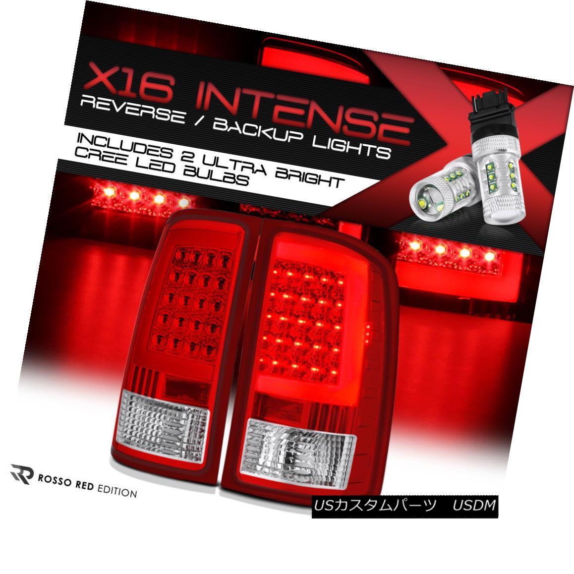 テールライト {CREE LED REVERSE} GMC Sierra 2007-2013 [Factory Style] LED Tube Rear Tail Lamps {クリーLEDリバース} GMC Sierra 2007-2013 [工場スタイル] LEDチューブリアテールランプ
