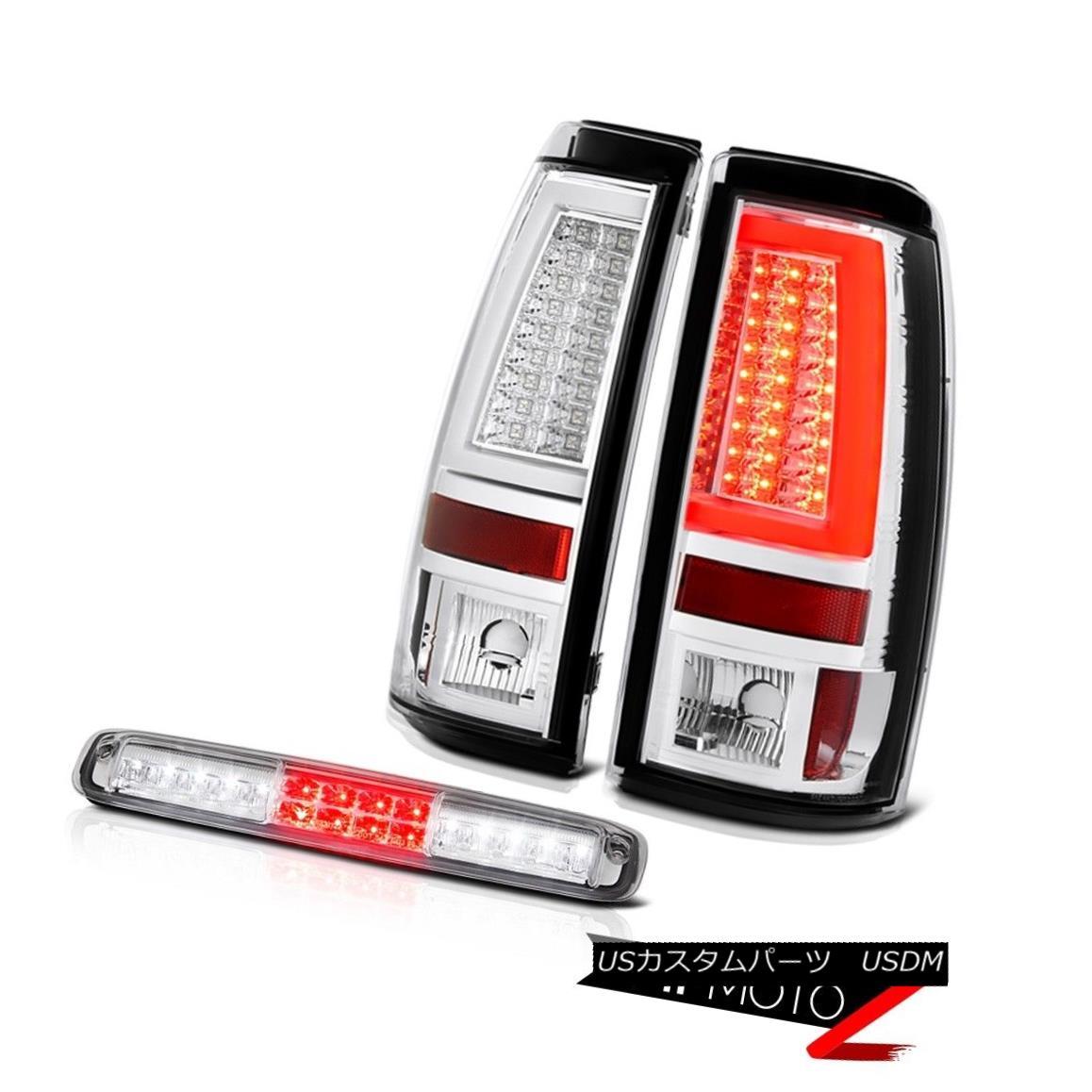 テールライト 03 04 05 06 Silverado Clear Chrome Taillights Roof Brake Lamp LED