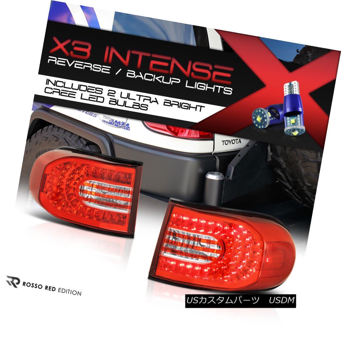 テールライト !HIGH-POWER CREE BACKUP! 2007-2015 Toyota FJ-Cruiser LED Tail Lamps L+R Assembly !ハイパワークリーバックアップ! 2007-2015トヨタFJクルーザーLEDテールランプL + R組立