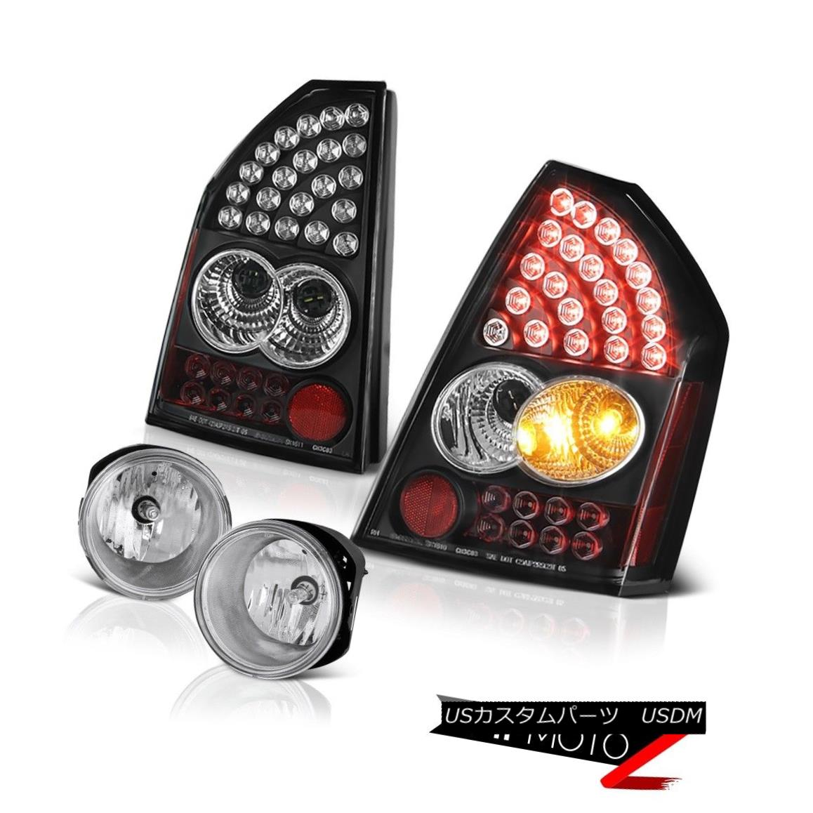 テールライト 05 06 07 Chrysler 300C 5.7L Brake Rear Tail Lights Assembly LED Driving Fog 05 06 07クライスラー300C 5.7LブレーキリアテールライトアセンブリLEDドライビングフォグ