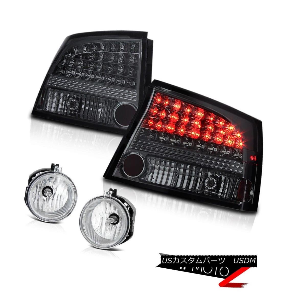 テールライト 2006-2008 Dodge Charger Smoke Rear LED Taillights Brake Lamp Clear Foglight Bulb 2006-2008ダッジチャージャースモークリアLEDテールライトブレーキランプクリアフォグライトバルブ