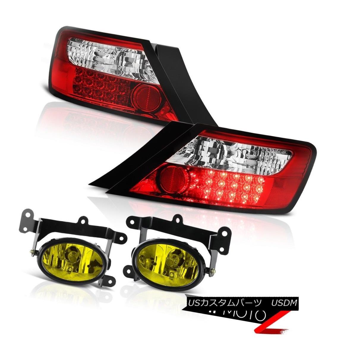 テールライト 2006-2008 Honda Civic 2DR Coupe Mugen Style Red LED Tail Lights Yellow Foglights 2006 - 2008年ホンダシビック2DRクーペMugenスタイルレッドLEDテールライトイエローフォグライト