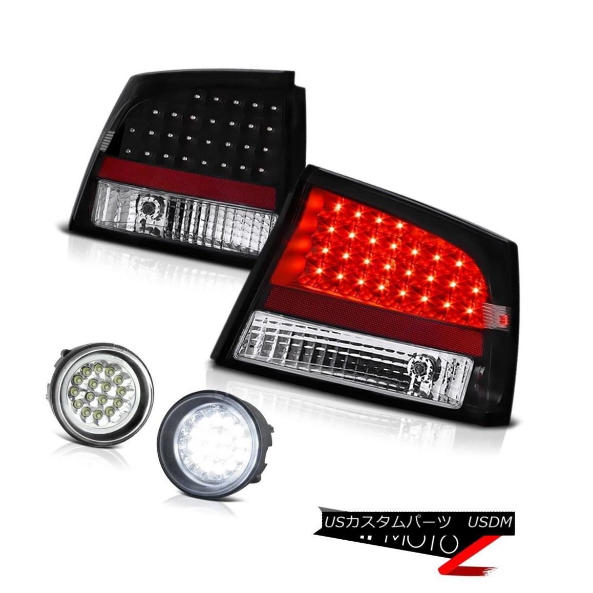 テールライト 2006-2008 Dodge Charger LED SMD Black Brake Tail Lights SMD Front Bumper Foglamp 2006-2008ダッジチャージャーLED SMDブラックブレーキテールライトSMDフロントバンパーフォグライト
