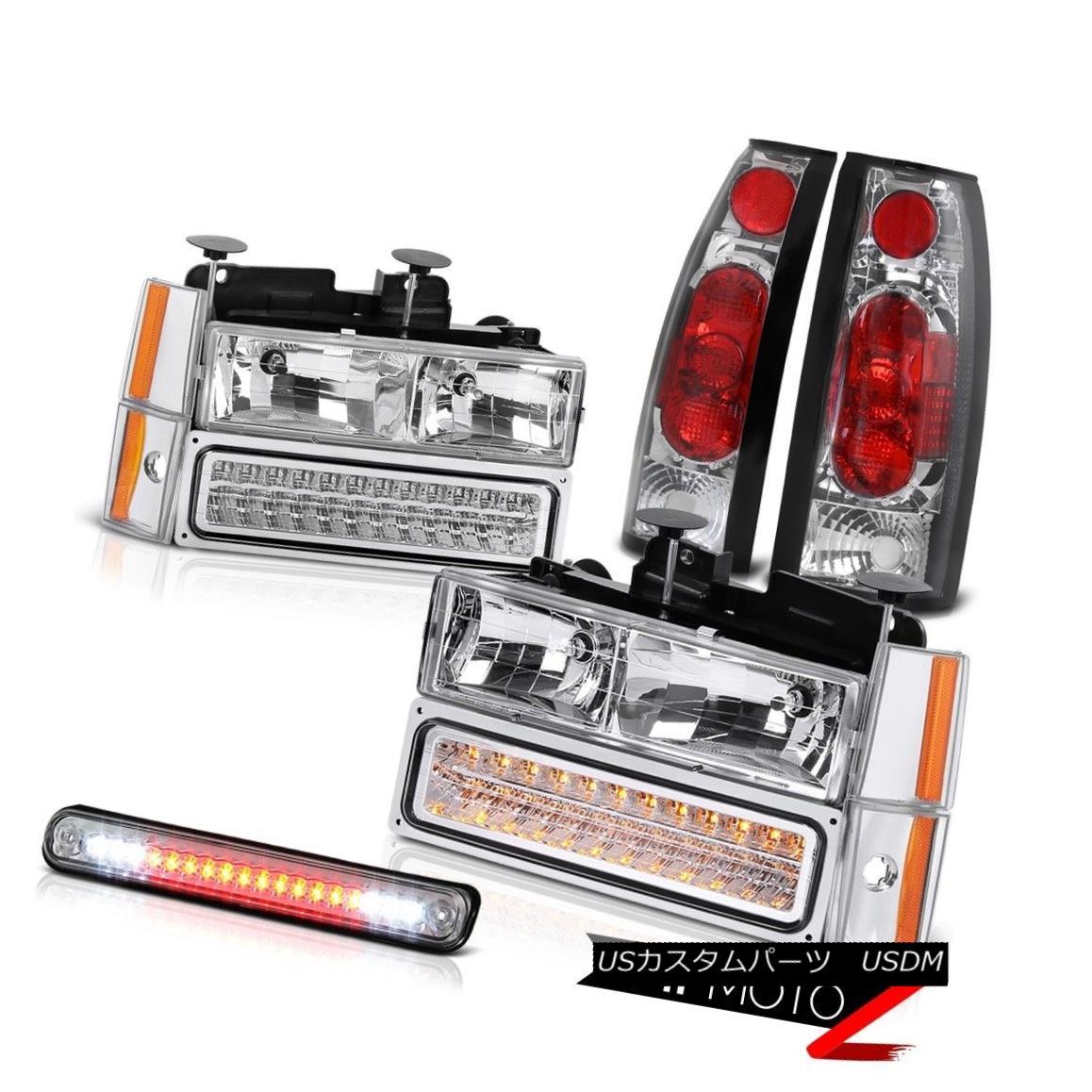 テールライト ALL Chrome LED Cargo Cab Brake Tail Light Corner Signal Parking Head Lights Lamp すべてのクロームLEDカーゴキャブブレーキテールライトコーナー信号ヘッドライトランプ