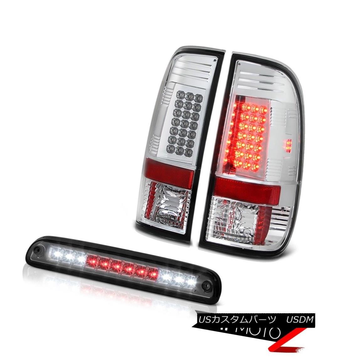 テールライト 2008-2010 Ford F250 6.8L Euro Bright LED Brake Tail Lights High Stop Cargo Smoke 2008年?2010年フォードF250 6.8LユーロブライトLEDブレーキテールライトハイストップカーゴスモーク