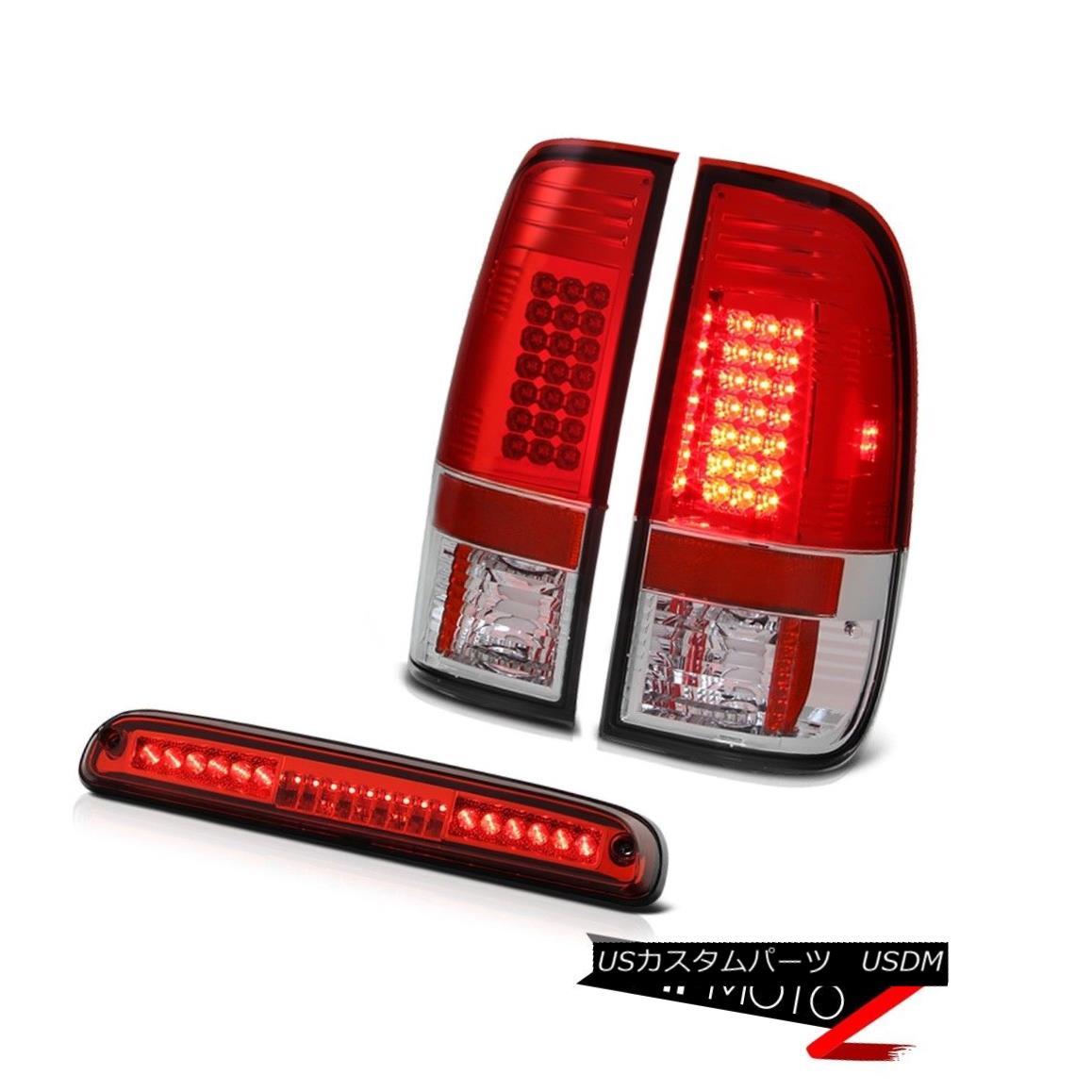 テールライト 2008-2010 Ford F250 SuperDuty 6.3L LED Parking Signal Tail Lights 3rd Brake Red 2008-2010 Ford F250 SuperDuty 6.3L LEDパーキング信号テールランプ第3ブレーキレッド
