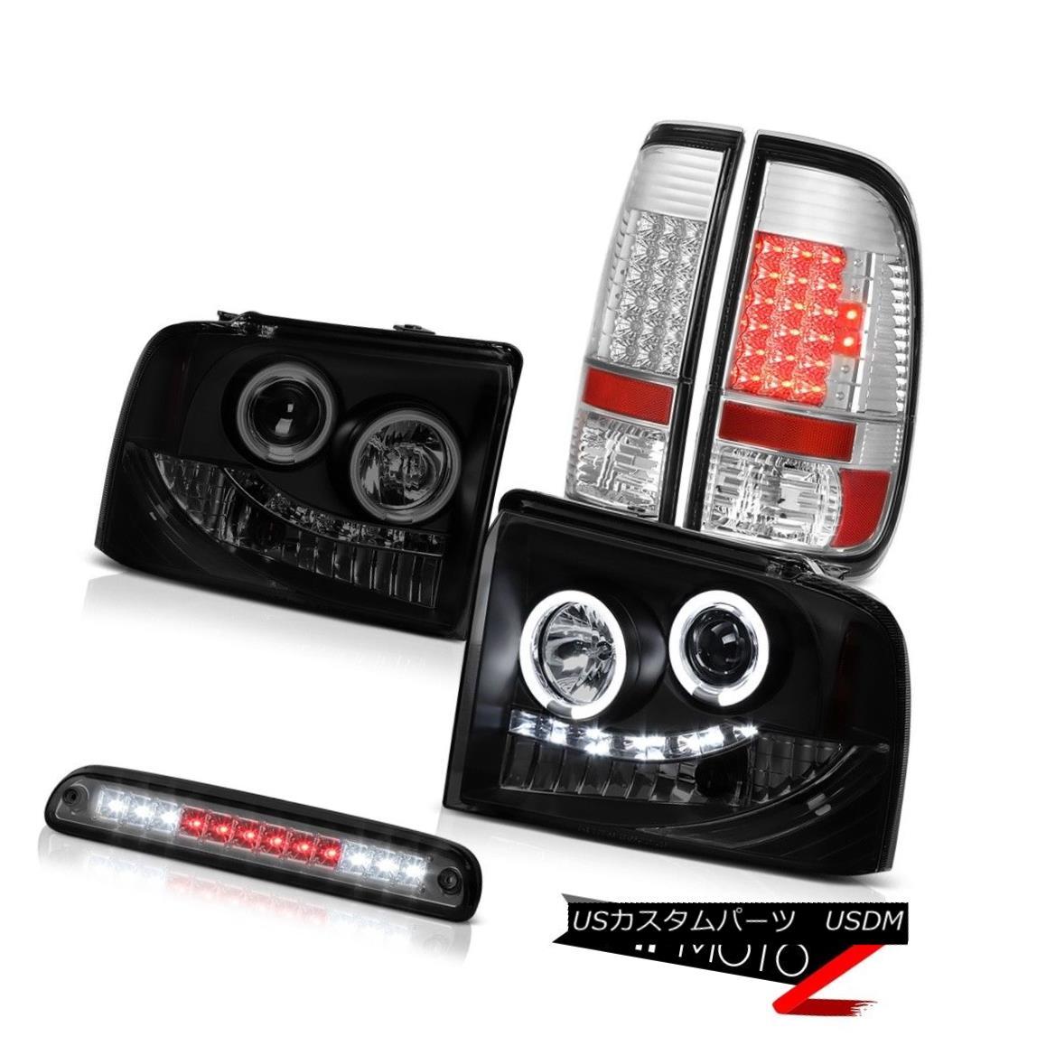 テールライト 05-07 Ford F350 SD Projector Headlight Sinister Black CCFL Halo Rim LED Taillamp 05-07 Ford F350 SDプロジェクターヘッドライトSinister Black CCFL Halo Rim LED Taillamp